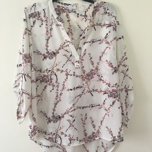 Tops - White floral blouse